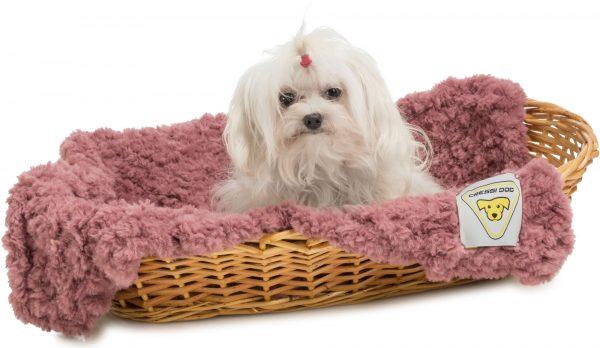 furry dog coperta per cani cressi dog filati mondial rosa malva gatto eco pelliccia filati Mondial