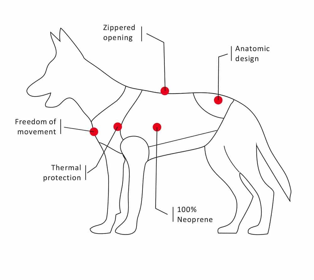 cressi dog wetsuit technical specifications